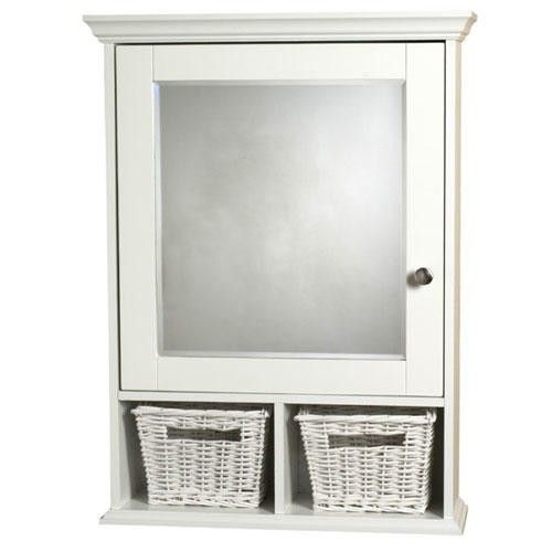 White Surface Mount Medicine Cabinet With Wicker Baskets White Surface Mount Medicine Cabinet Adjustable Shelving White Medicine Cabinet