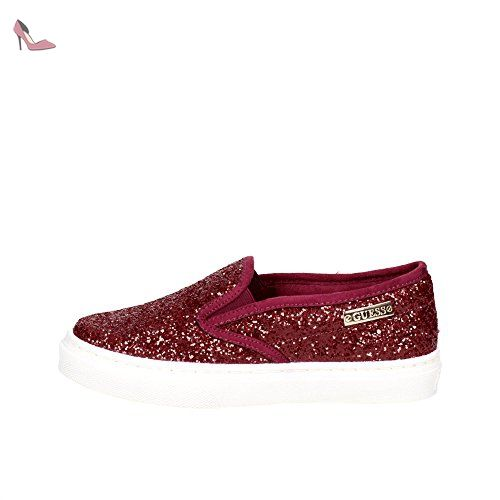 Guess on FL3 Chaussures FAM Bordeaux Glitter GT2 Slip Bordeaux Femme xxrvHw