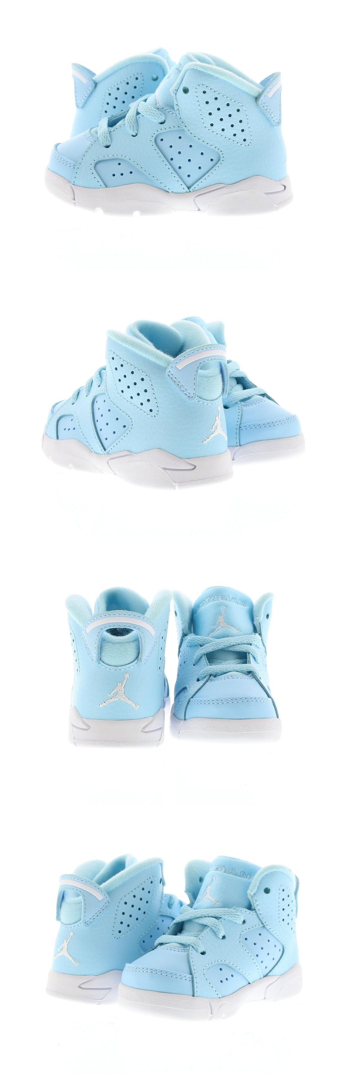 06520b3f7946ec Baby Shoes 147285  Infant (Td) Air Jordan 6 Retro Pantone Still Blue White