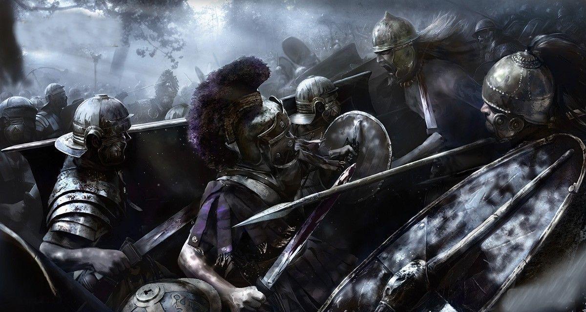 Bárbaros britanos intentando resistirse, por suerte sin éxito, a ...