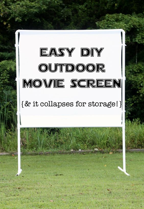 How to make an easy DIY outdoor movie screen | Outdoor movie screen ...