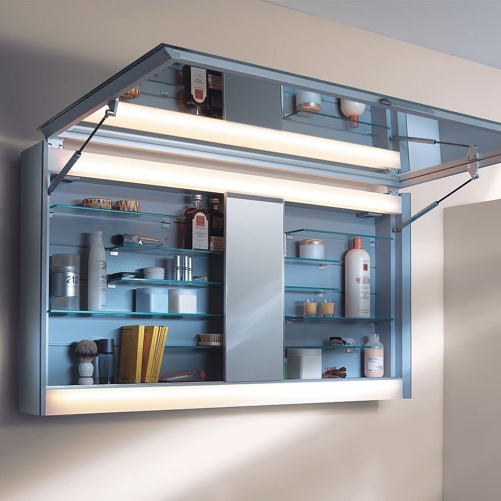 keuco edition 300 1 door iluminated mirror cabinet - Bathroom Cabinets Keuco