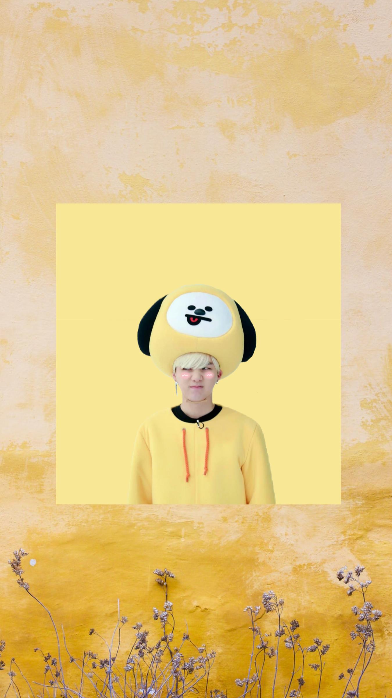 Bts S Yoongi Suga Yellow Wallpaper Btswallpaper Suga Fotografi Seni Seni Kuning