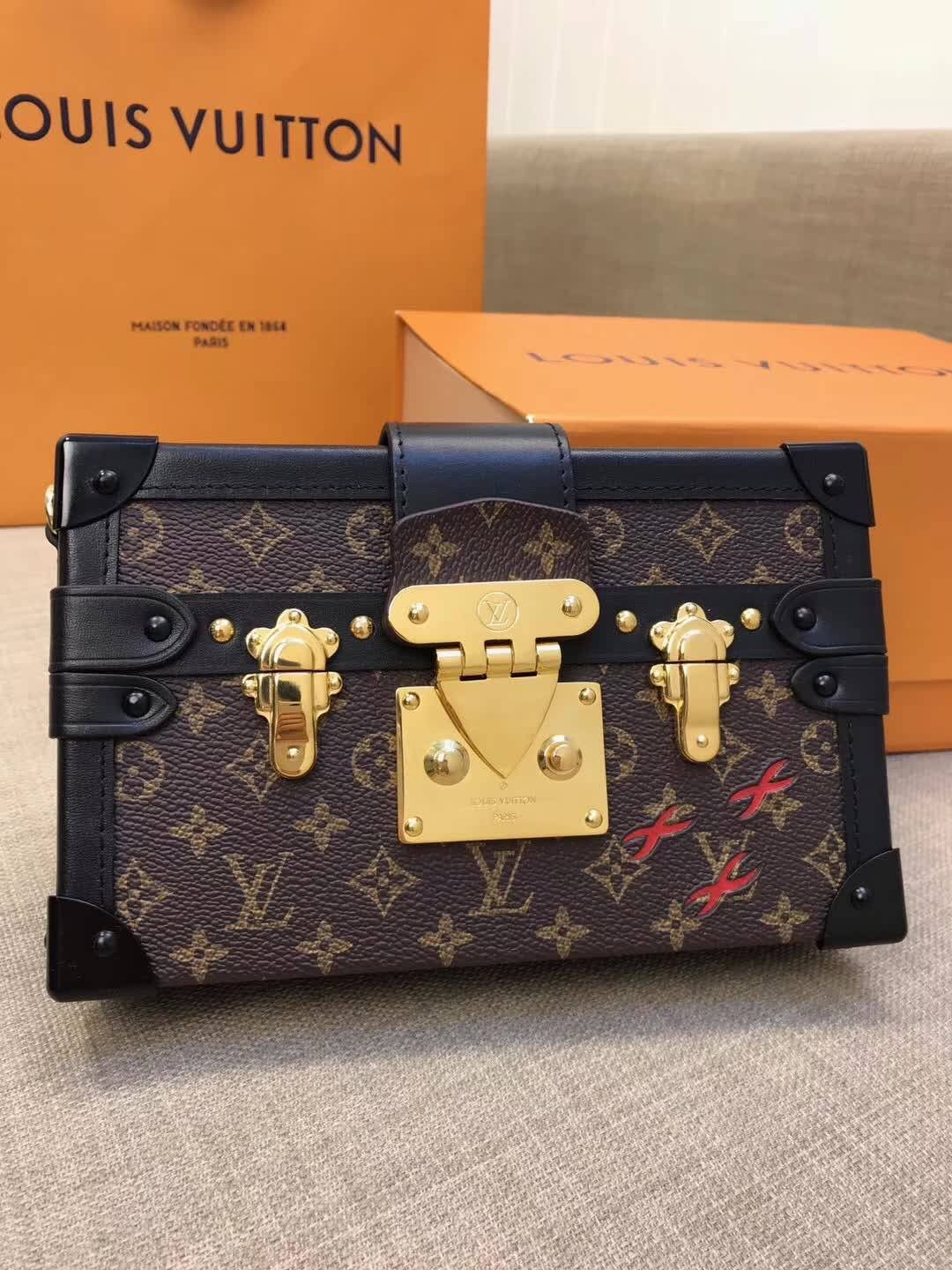 478964792ab3 Louis Vuitton lv petite mella clutch box bag original leather ...