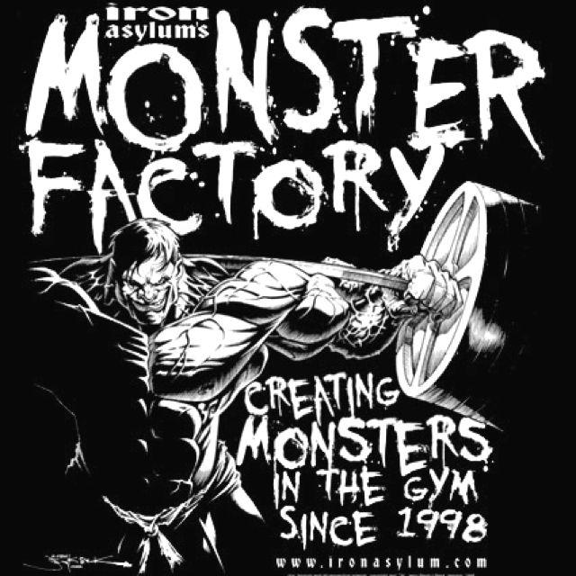 Monster Factory By Iron Asylum Gym Art Bodybuilding Logo Gym Logo