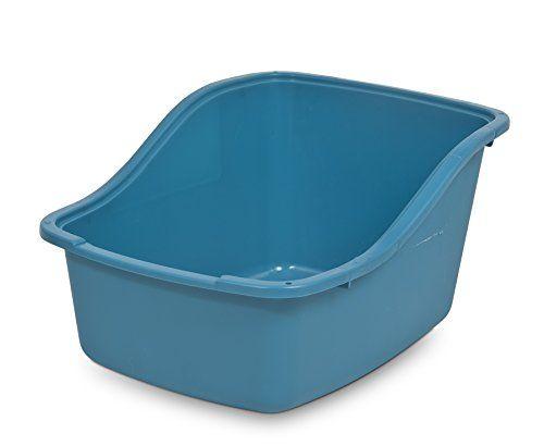Dosckocil-Petmate-CDS22007-Plastic-Hi-Back-Cat-Litter-Pan-Large-Assorted