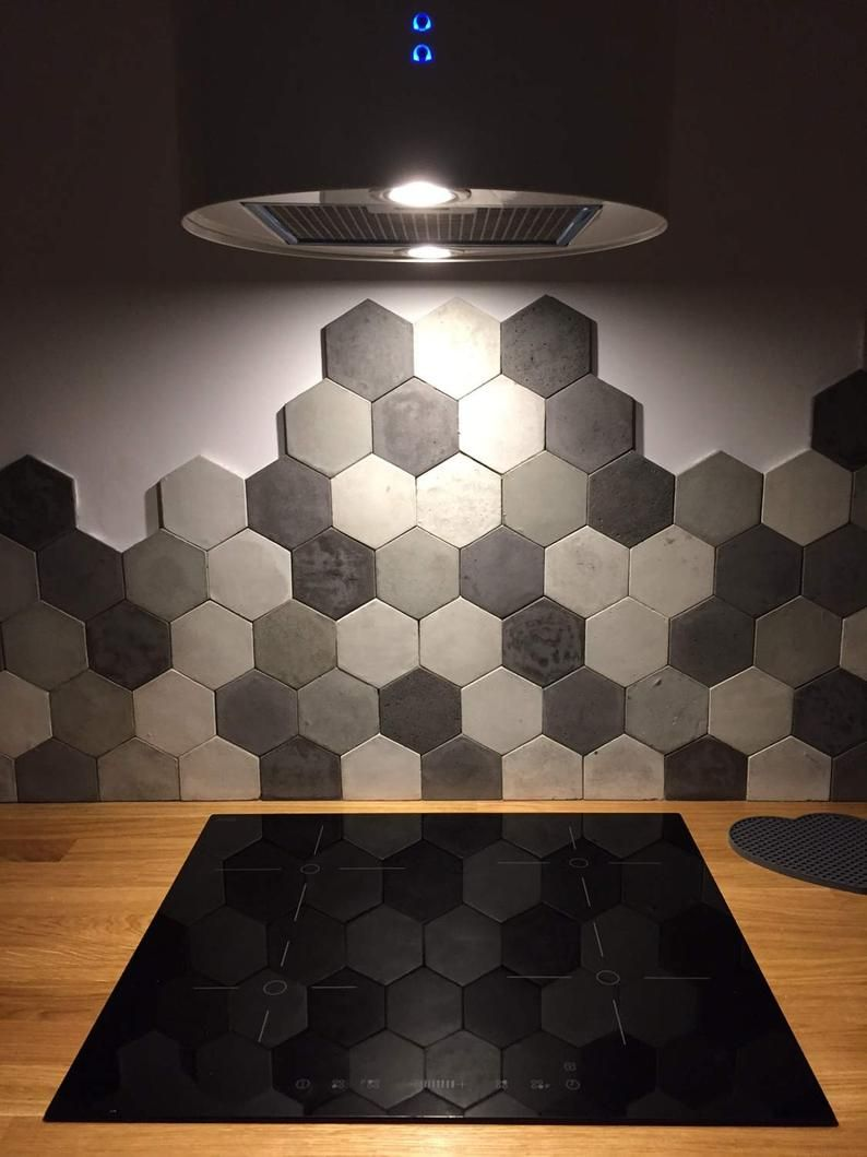 Sample of Concrete Hexagon Tiles in 2020 Kitchen wall