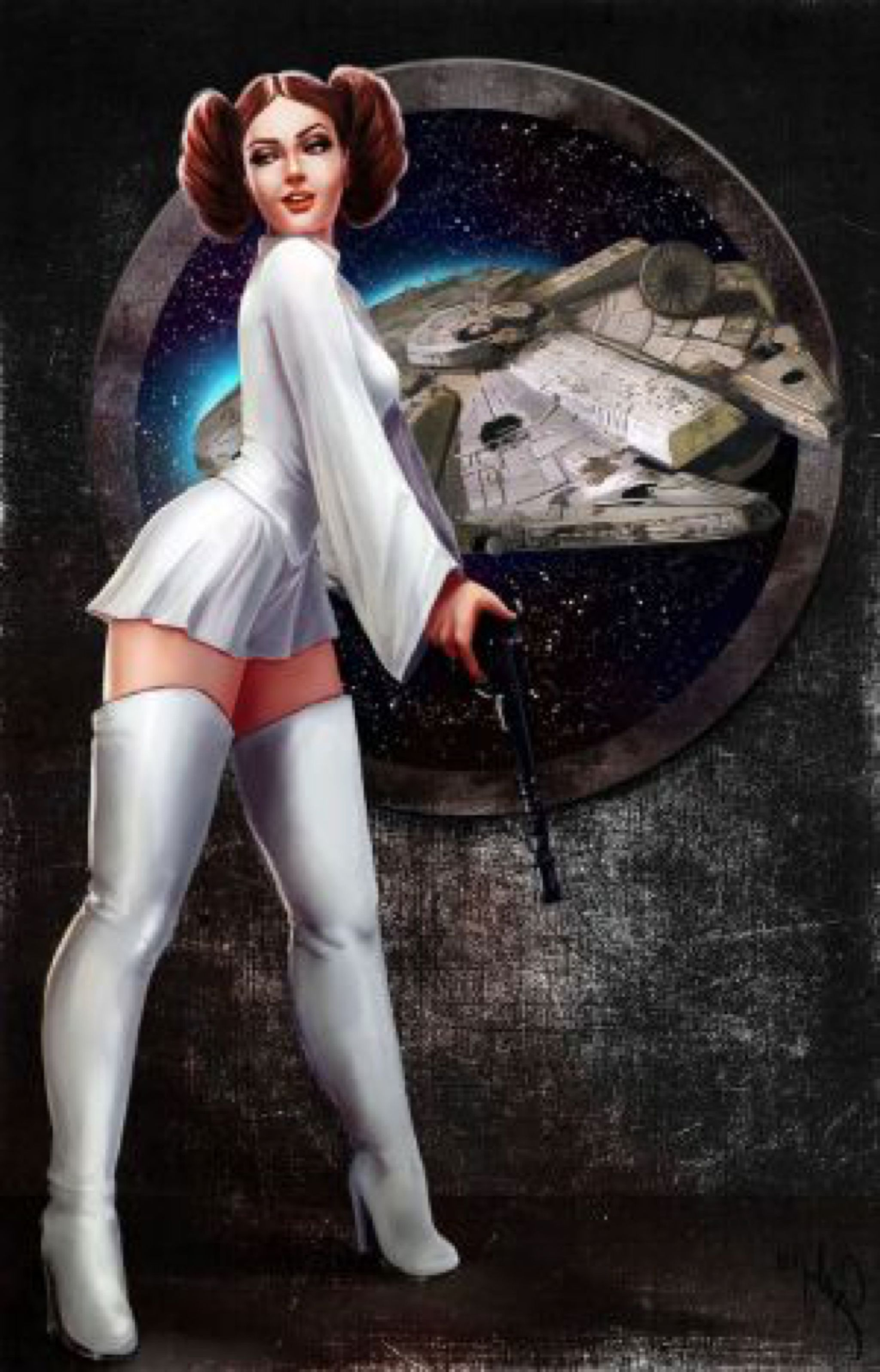 Jabba The Hutt Fucks Princess Leia Awesome leia pinupphoenixnightmare on @deviantart   star wars pics
