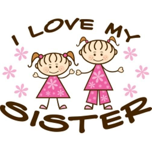 I Love My Sister Clipart