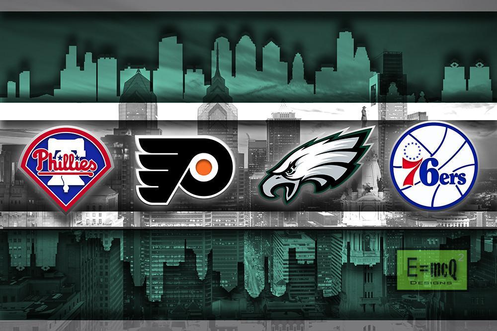 Philadelphia Sports Teams Poster, Philadelphia Eagles
