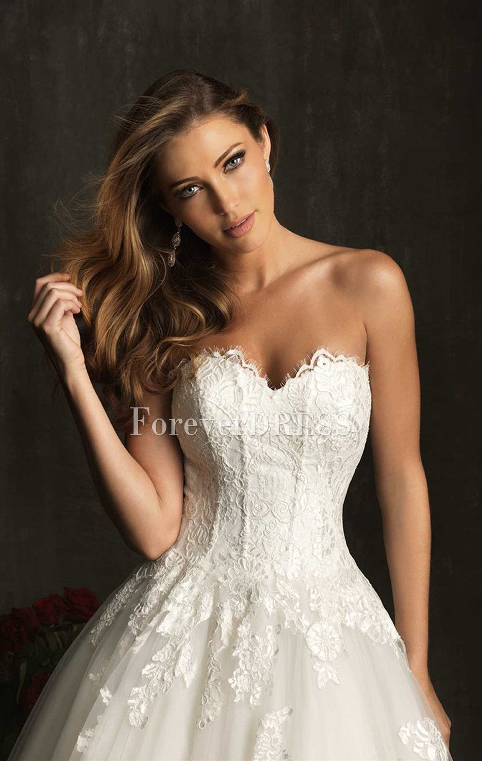 Lace wedding dress with boning yahoo image search for Wedding dresses with a corset