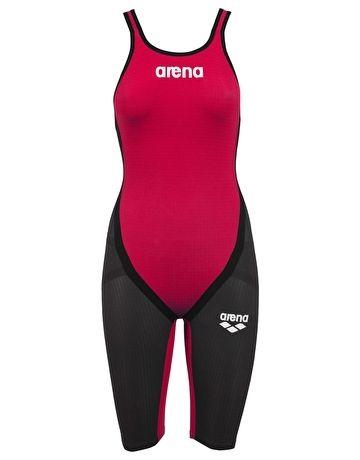 1d100933e0b7d Arena Powerskin Carbon Flex Full Body Short Leg - Red and Grey ...