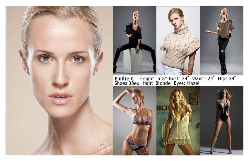 Model Comp Card Example 30