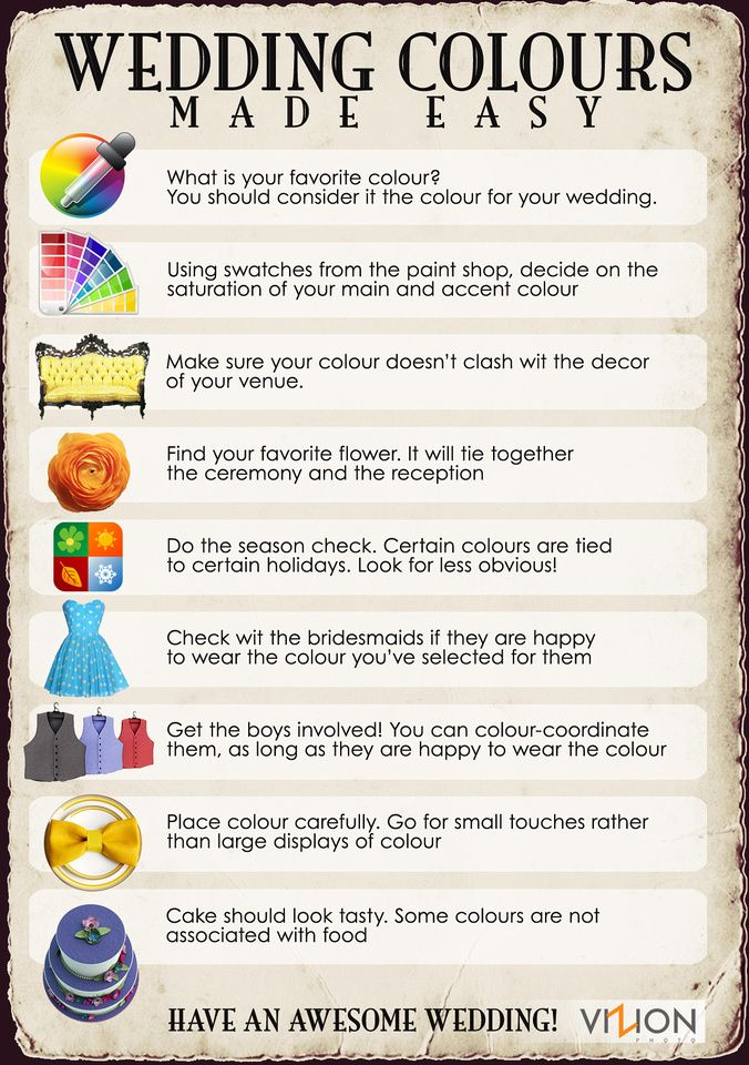 Here Is A Few Useful Tips On How To Choose Wedding Colours