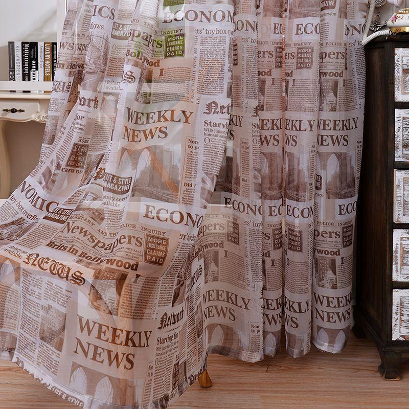 Cheap 2016 cotone morbido tessuto di lino puro tulle tende per ...