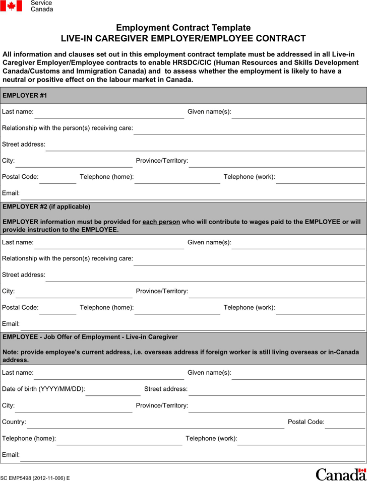 Free Employment Contract Template   PDF | 7 Page(s)