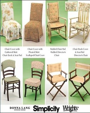 Attractive DIRECTORS CHAIR Cover Sewing Pattern   Donna Lang Covers U0026 Pads   OOP Easy