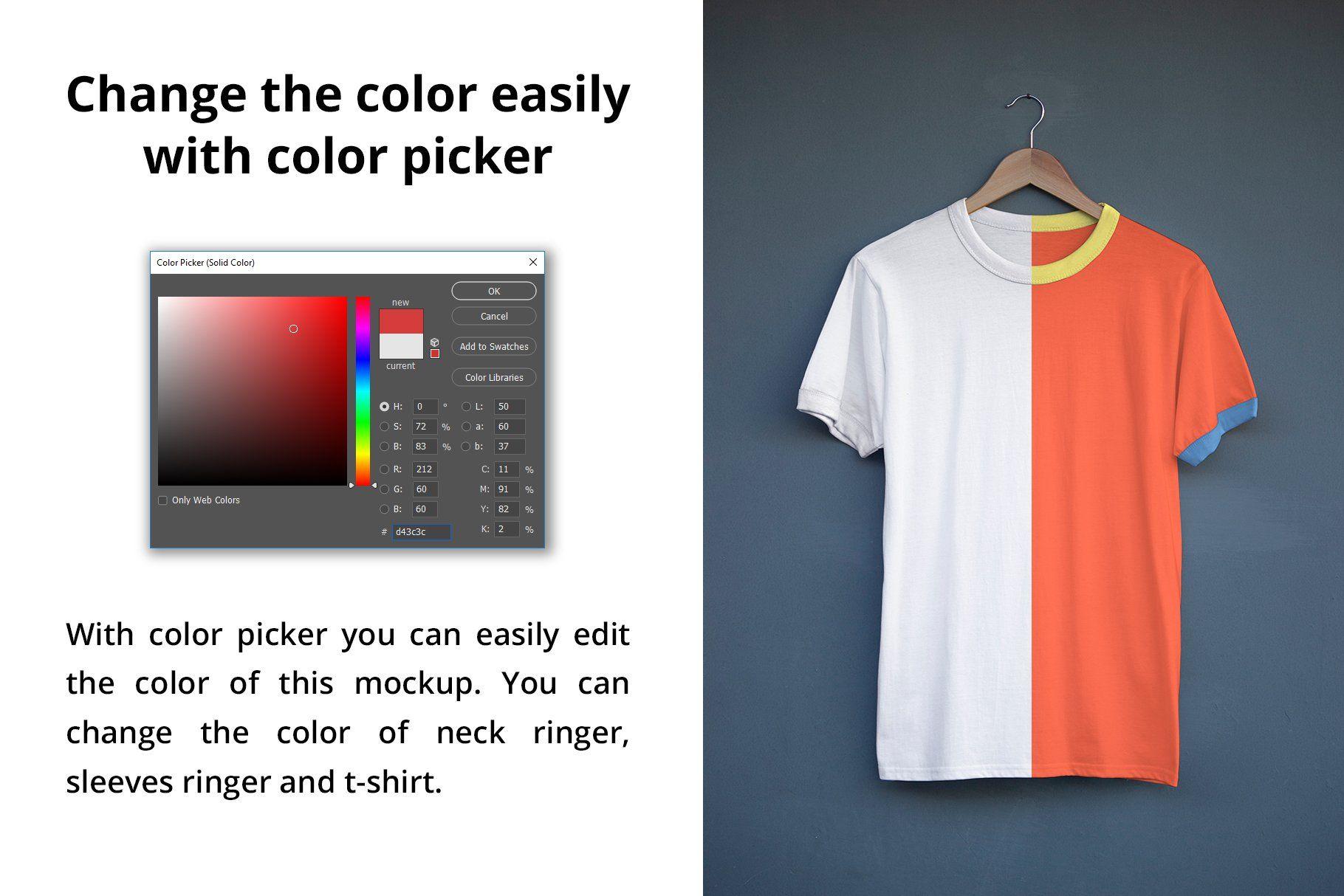 Download Ringer T Shirt Mockup Clothing Mockup Shirt Mockup Tshirt Mockup