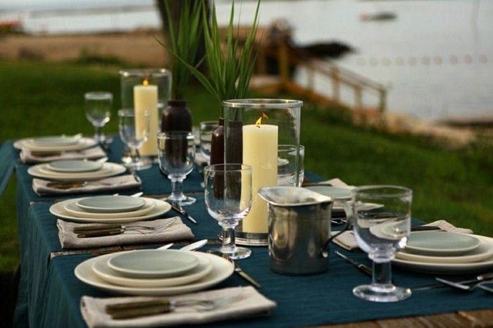 AuBergewohnlich Mediterrane Deko Ideen Pflanzen Und Kerzen
