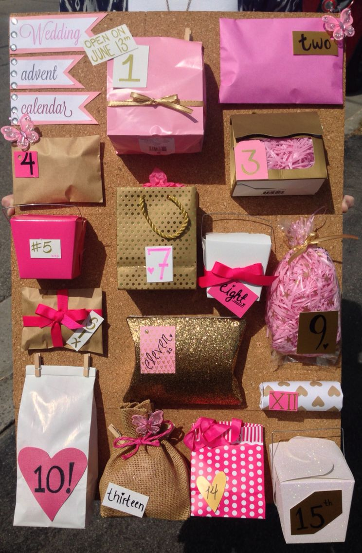 Advent Calendar Ideas Wedding : Wedding advent calendar diy pinterest