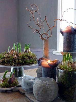 Sfeer kaarsen voorjaar pasen pinterest kaarsen for Decoratie op eettafel