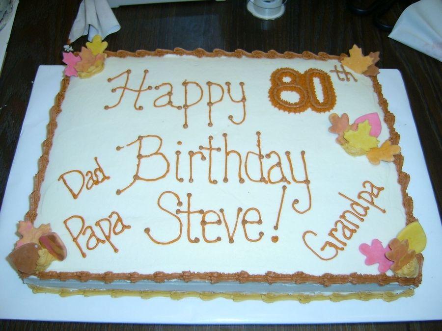 birthday sheet cakes birthday cakes for men 80 birthday birthday ideas ...