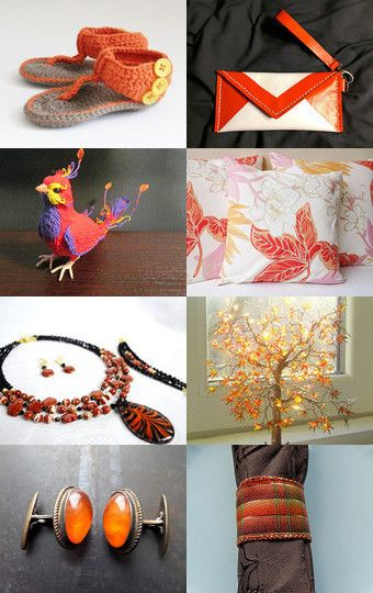 Charming orange! by Sabrina on Etsy--Pinned with TreasuryPin.com
