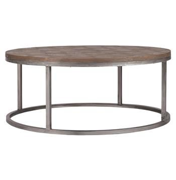 Colby Modern Industrial Loft Reclaimed Wood Coffee Table