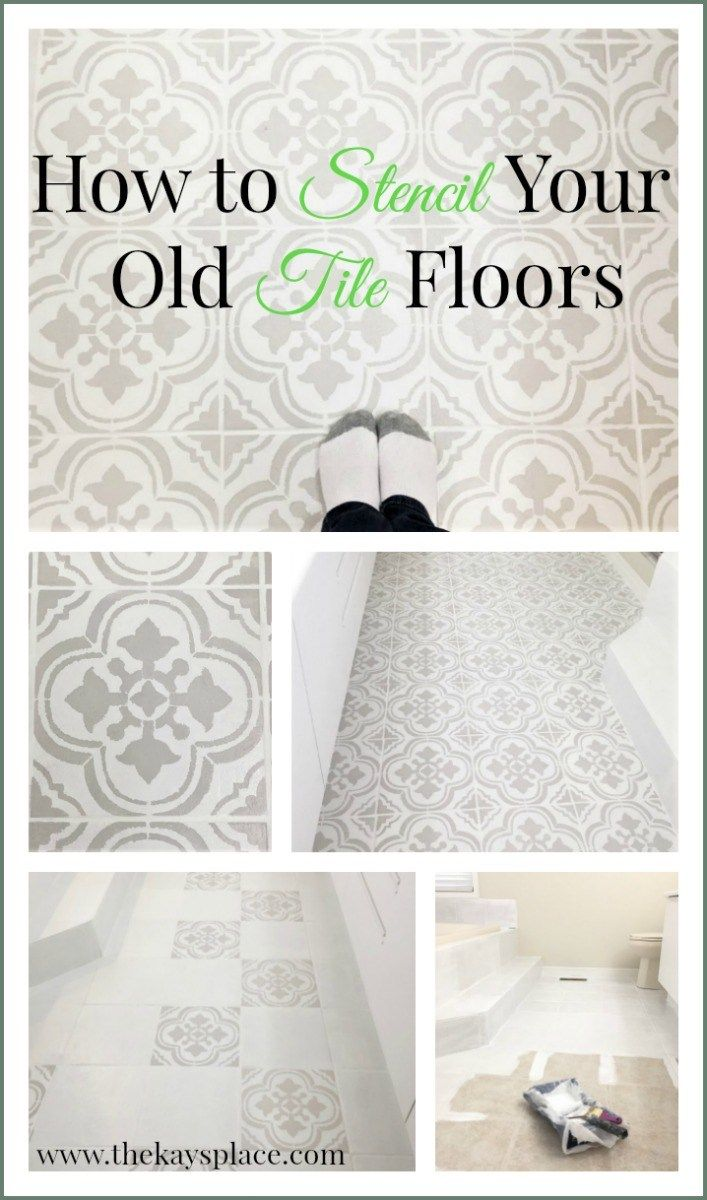 Stenciled My Old Outdated Tile Floor
