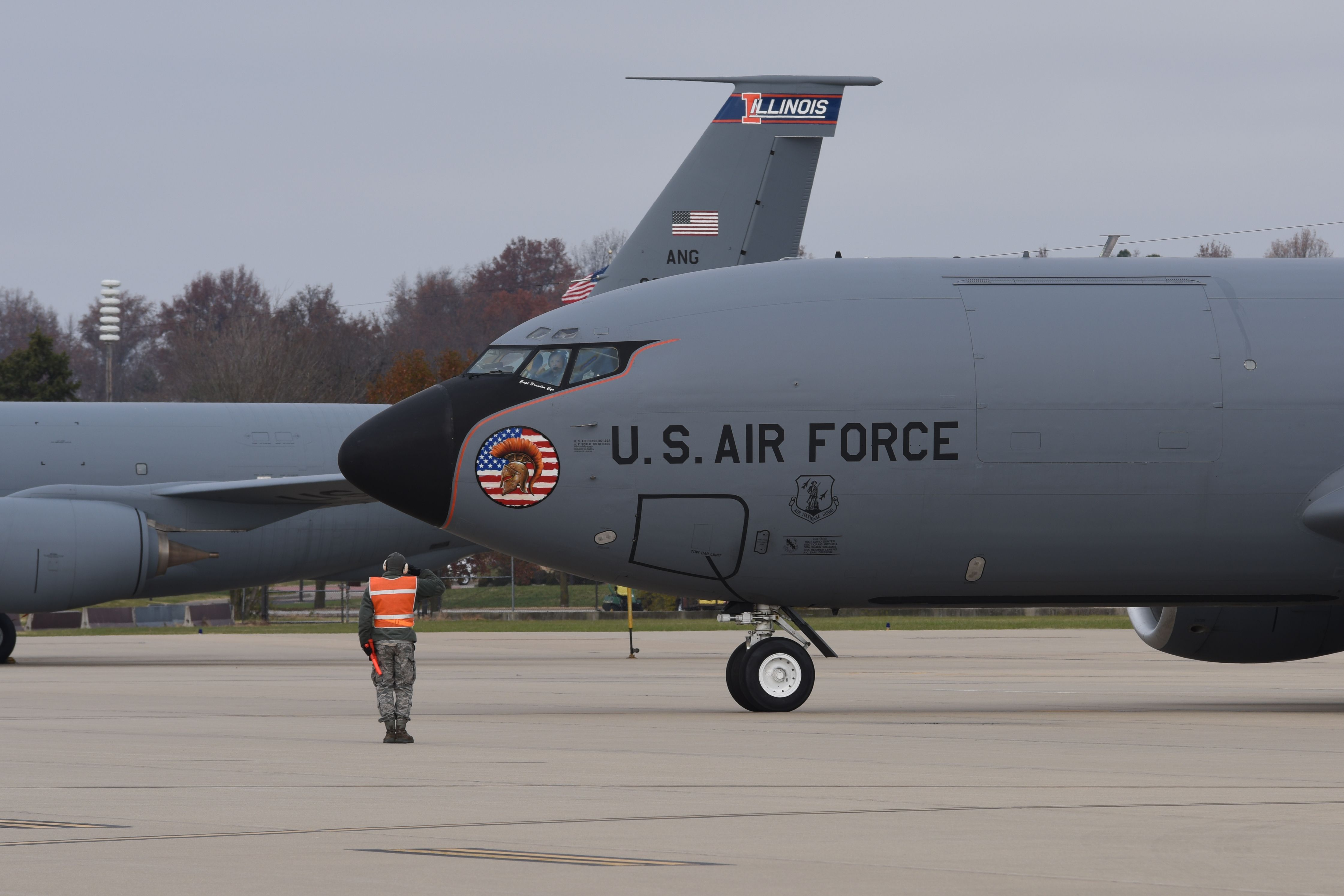A Kc 135r Stratotanker Assigned To The 126th Air Refueling Wing At Scott Air Force Base Ill Launch Us Military Aircraft Strategic Air Command Cargo Aircraft