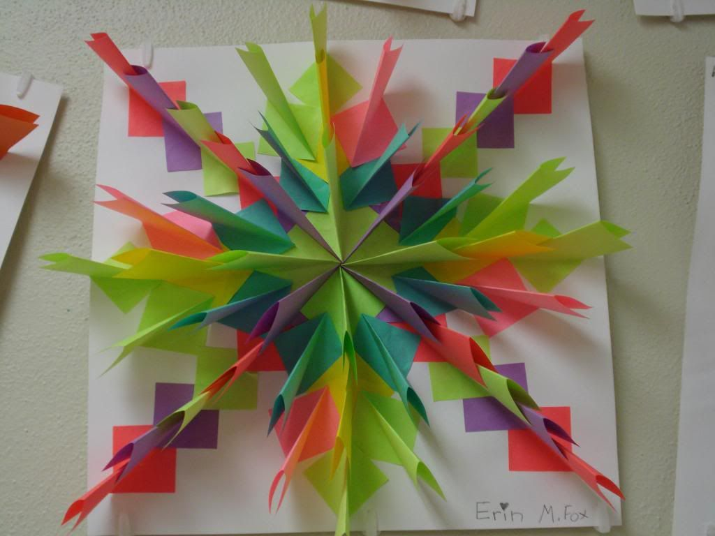 Amy S Artsy Adventures 5th Grade Radial Relief Paper