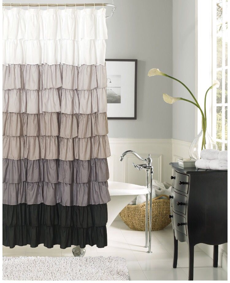 Shower Curtain Ruffle Shower Curtains Black Shower Curtains