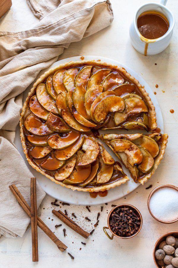 Caramel Apple Tart | Apple Pie Filling in a Tart Crust & Homemade Caramel