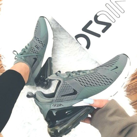 Nike Air Max 270 Green Stylish Sneakers | Shoes Sneakers