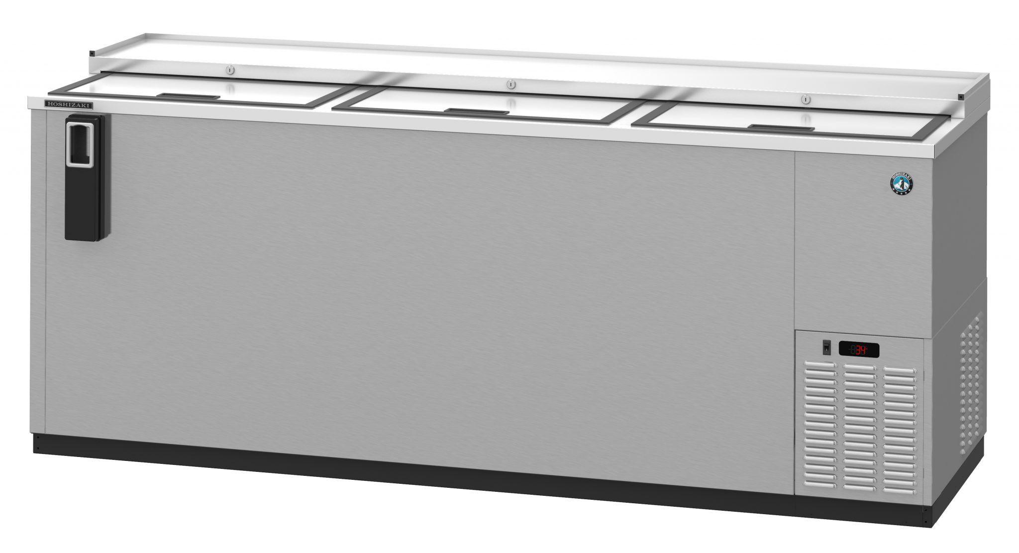Hbc 80 S Refrigerator Three Section Stainless Steel Back Bar Bottle Cooler Slide Top Doors Bottle Coolers Back Bar Bottle
