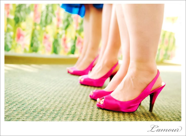 What Colors Go With Hot Pink royal blue dresses with hot pink shoes- contrasting colors