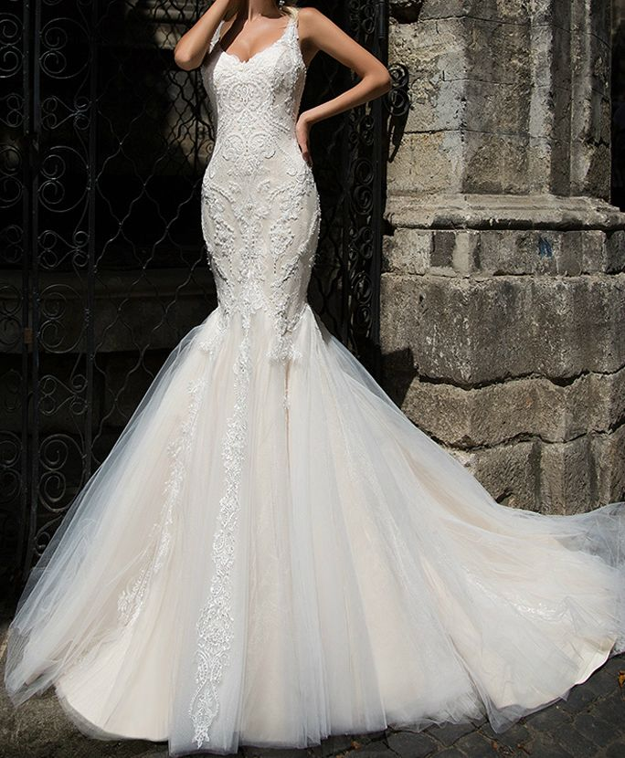 Beautiful Fishtail Wedding Dress Available At Dress Dreams Kent