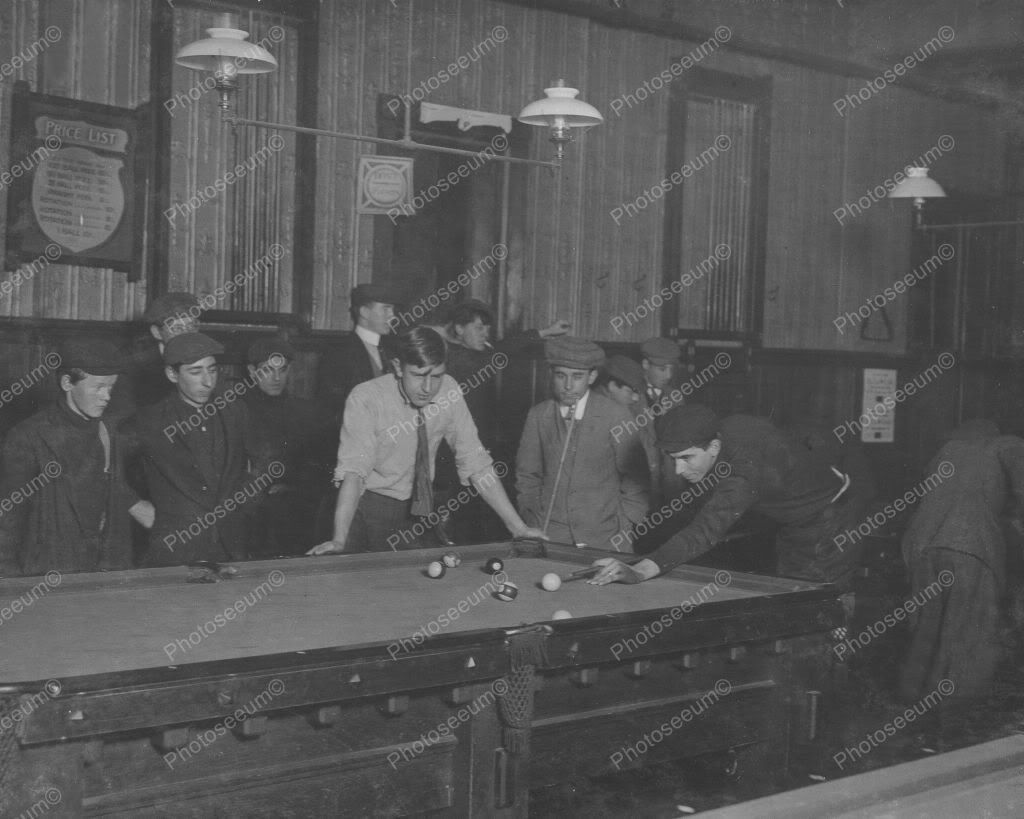 shooting pool 1938 vintage 8x10 reprint of old photo ebay