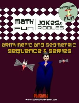 this funsheet has arithmetic and geometric sequences and series activities - Halloween Sequences