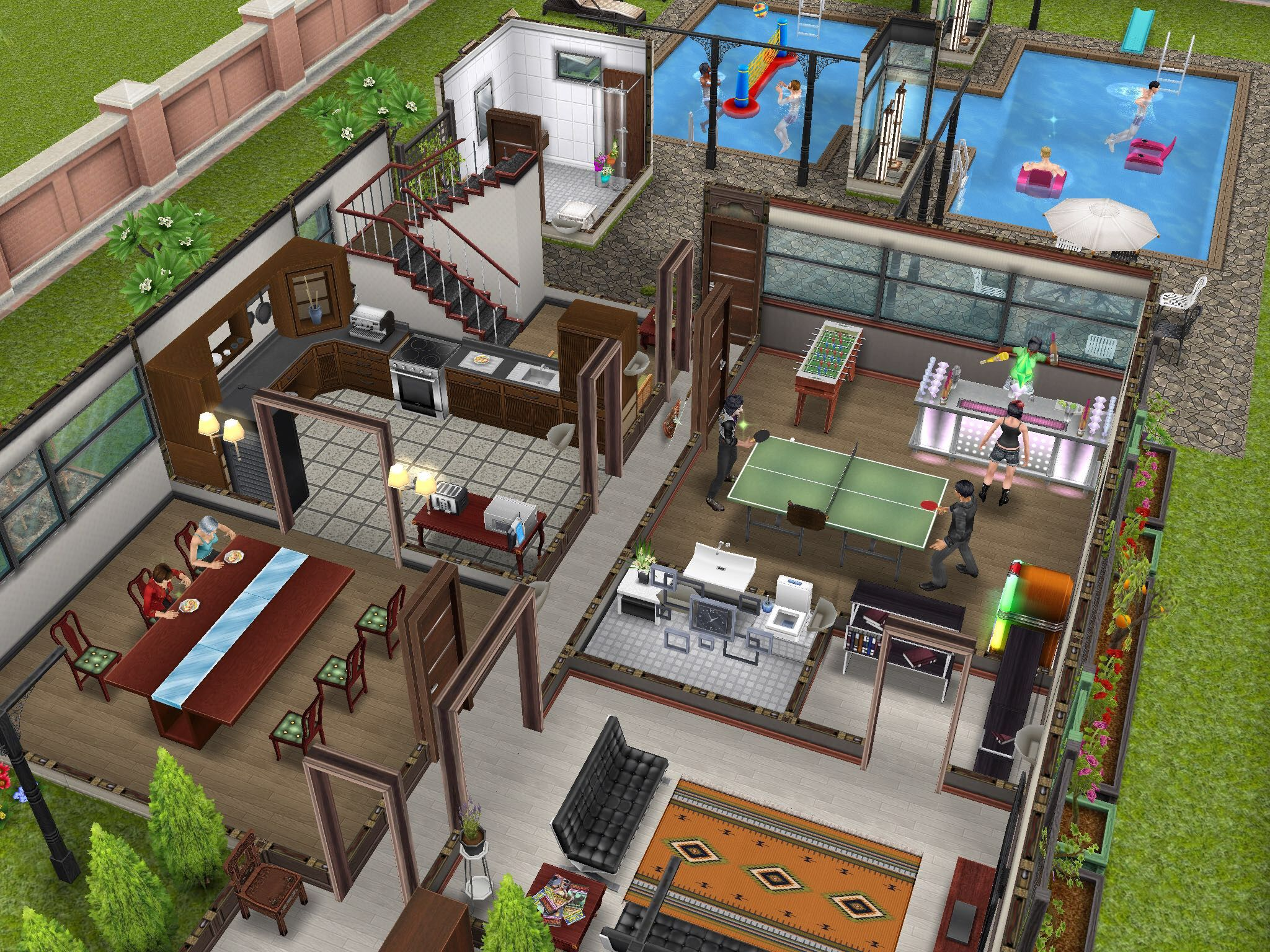 House design sims - Sims Freeplay Huge House Simcity Buildit Entwickler Bauen Traumh User In Die Sims Freeplay