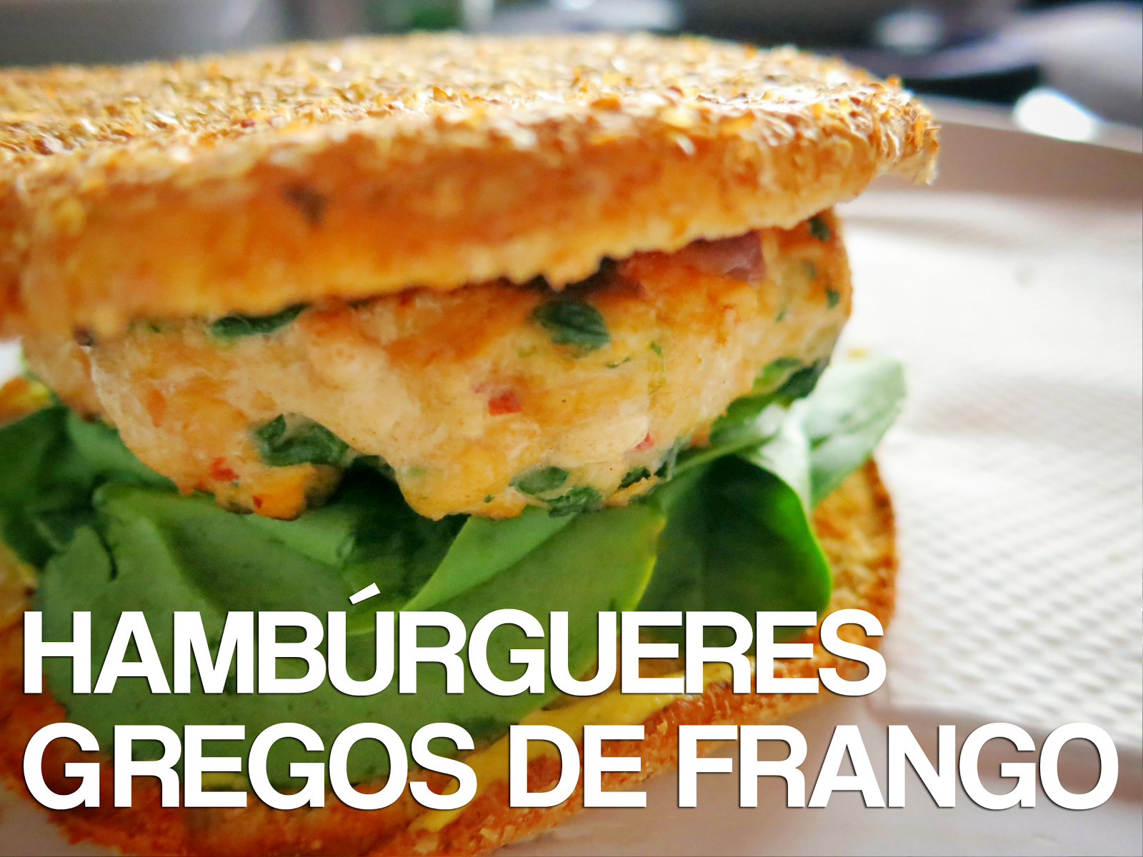 Receitas de Dieta: Hambúrgueres Gregos de Frango