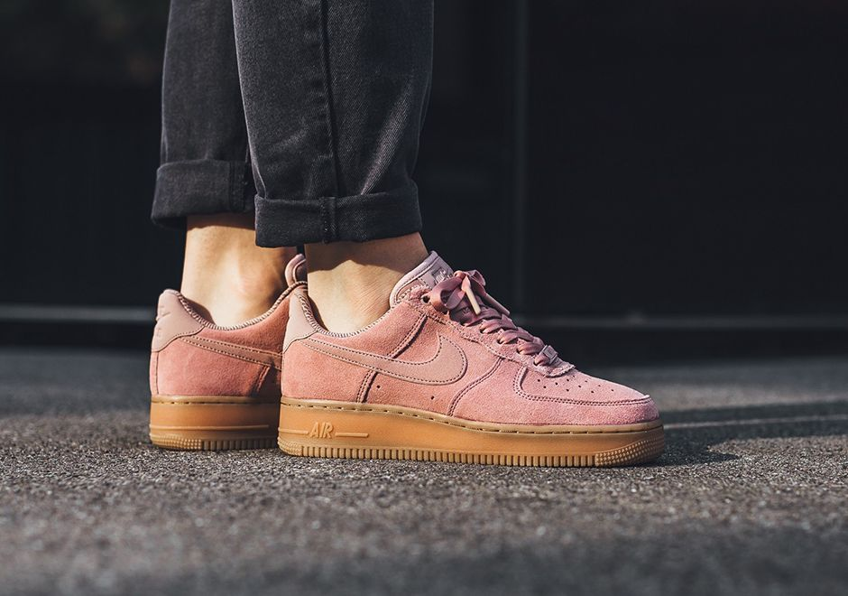 Nike Air Force 1 Low Womens Suede Gum