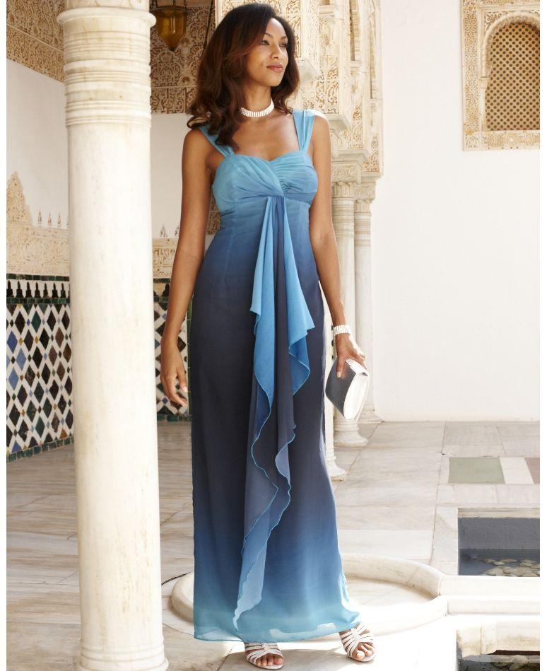 Ombre maxi dress plus size uk