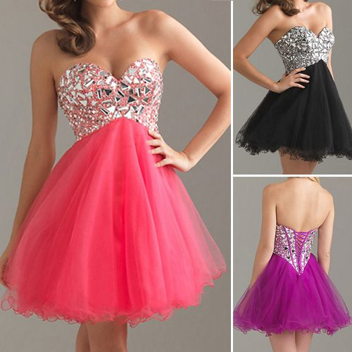 Bridesmaid Cocktail Formal Tutu Short Mini Gowns Prom Evening Party Ball Dresses | eBay
