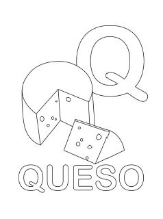 spanish alphabet coloring page q - Coloring Page Q