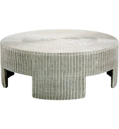 48 Wicker Round Coffee Table From The Archive Collection By