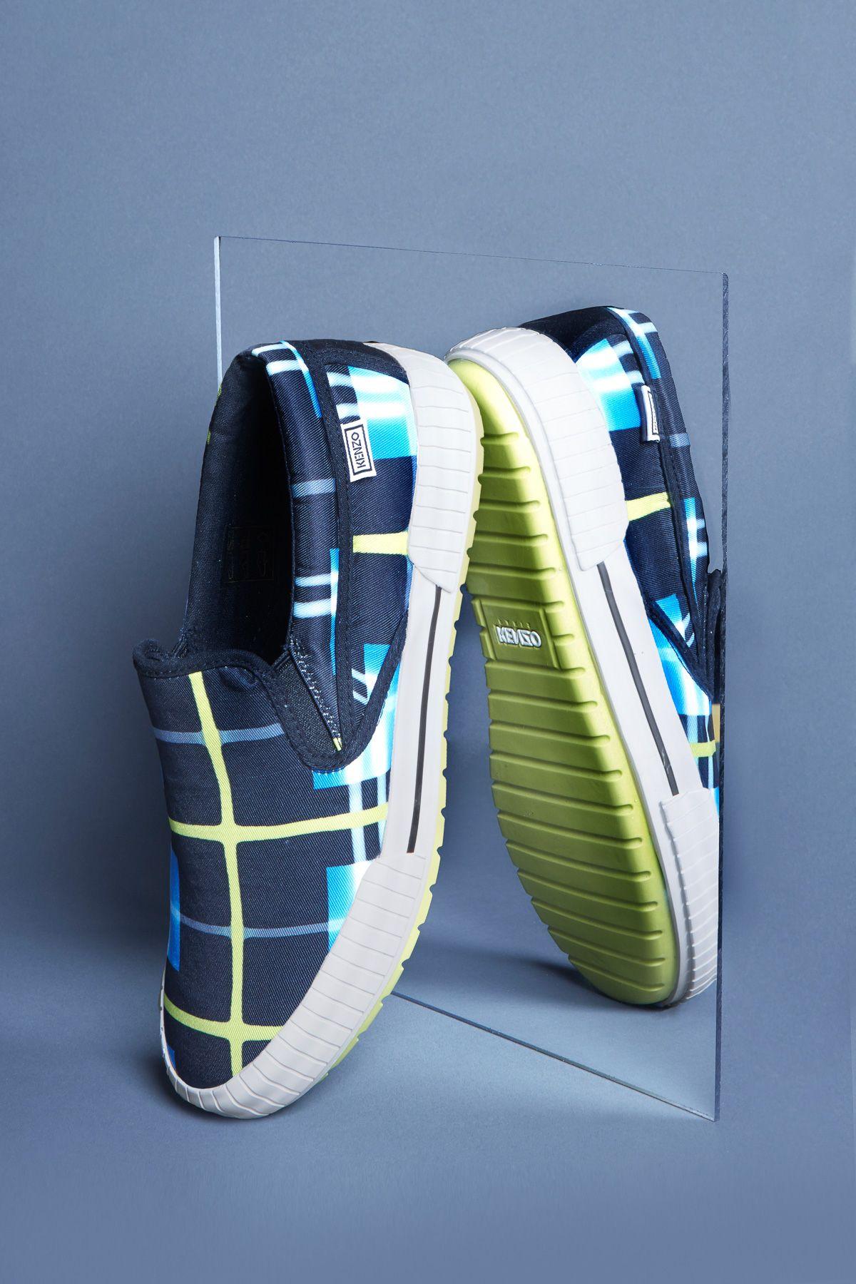 Kenzo Mixed Print Running Sneakers - MEN - Footwear - Kenzo - OPENING CEREMONY