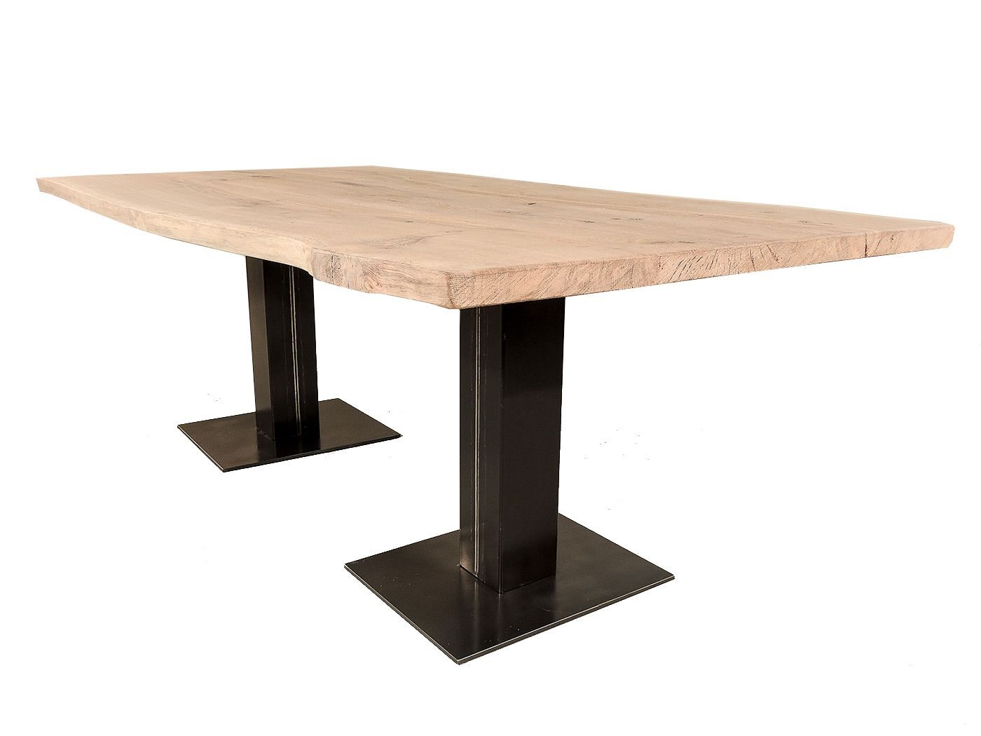 Boomstam eettafel   310cm, 150cm breed   plataan hout   massief ...