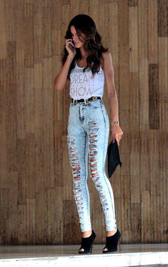 22bbf653e como usar calça jeans destroyed cintura alta - Pesquisa Google ...