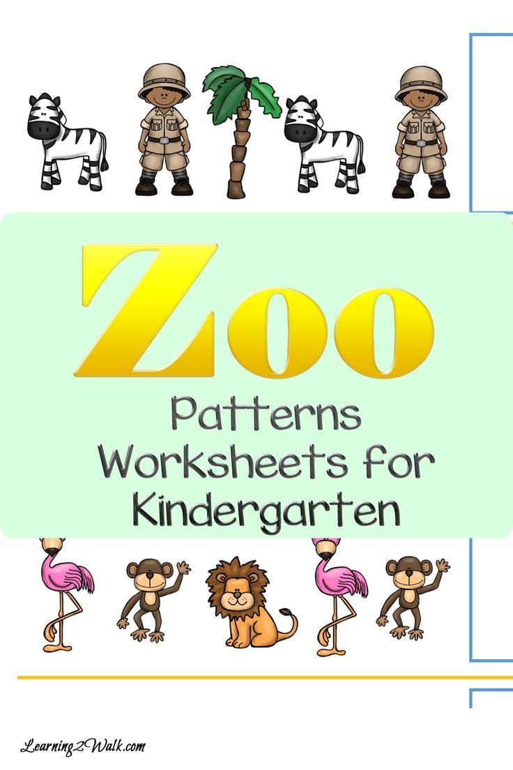 zoo patterns worksheets for kindergarten fun learning activities for kids pattern worksheets. Black Bedroom Furniture Sets. Home Design Ideas